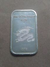 1 oz Suisse Gold Year of the Dragon 2012 .999 Silver Bar