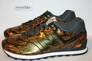 AUTHENTIC New Balance ML574 Alpha Orange Gold Running Shoes Men size