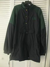 MEN'S GTM SPORTSWEAR HOODED AND LINED JACKET, DARK BLUE & GREEN, SIZE X-LARGE