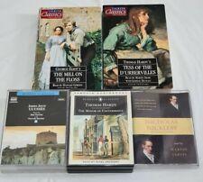 5x Audio Book Talking Classics Cassette Tape Set Novel Hardy Eliot Joyce Dickens