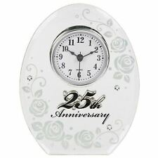 25th Silver Wedding Anniversary Mirrored Clock Gifts