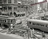 Photograph of Washington DC Streetcars during Street Repair Year 1941 8x10