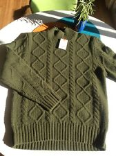 $350 NWT- JACK SPADE BLEECKER STREET ERVING Cable Knit SWEATER Men's Large