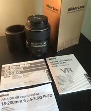 Nikon Micro NIKKOR 105mm F/2.8G ED AF-S VR Lens W/ Tiffen 62mm UV Filter