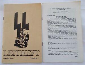 SS-Leitheft V7#12b (1941) 1988 Facsimile English Translation WWII Nazi Cartoons