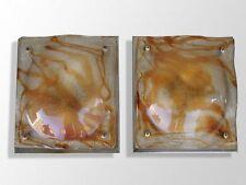 paire d'applique 1970 verre moulé Design