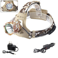 8000LM CREE XML XM-L T6 LED 18650 Headlamp Headlight Lamp Light + AC&Car Charger