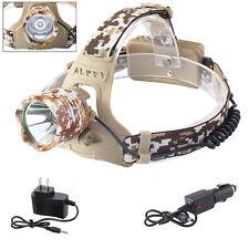 8000LM XML XM-L T6 LED 18650 Headlamp Headlight Lamp Light + AC&Car Charger