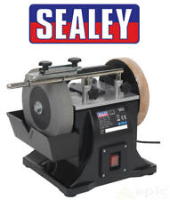 """Sealey 200mm 8"""" Wheel Wet Stone Honing Sharpener Grinder System 240v SMS2101"""