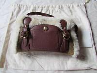 UGG Bag Wristlet Doctor Clutch Shearling Chestnut Bomber