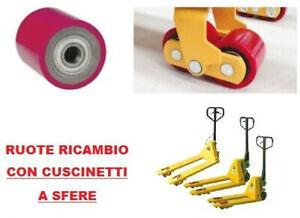 RUOTA RULLO CON CUSCINETTI 80 x 60 mm FORO 20 mm ruote rulli per transpallet