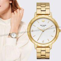 NWT 🌼 KATE SPADE KSW1494 Morningside Scallop Gold Tone Bracelet 38mm Watch