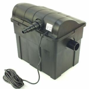 Jebao Pond Gravity Box Filter UBF6000 with 9w UV Lamp Koi Fish Kill Green Algae