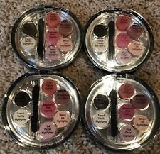 4 Sheer Cover Makeup Compacts Lip Gloss Cream Highlighter Eyeliner Palette. New