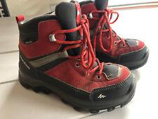 Quechua Decathlon Boys Girls Forclaz 500 Waterproof Red Walking Boots Size 12