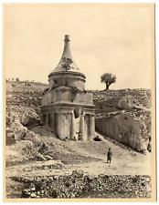 Palestine, Jérusalem, le tombeau Absalon  Vintage albumen print Tirage album