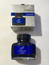 PARKER QUINK WASHABLE BLUE WRITING INK 57ml - NEW OLD STOCK - BOXED.