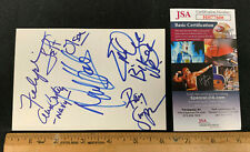 THE VILLAGE PEOPLE HAND SIGNED AUTOGRAPHED INDEX CARD JSA/COA