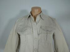 DKNY Khaki Button Front Shirt Petites size 6