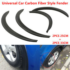 4x Universal Car Carbon Fiber Look Body Kits Fender Flares Wheel Lip 25cm + 33cm