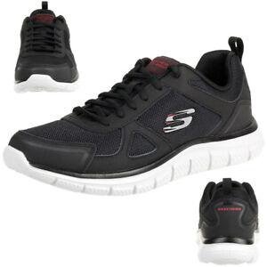 Skechers Track Scloric Herren Sneaker Sportschuhe Trainer schwarz 52631