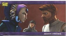 Star Wars Clone Wars Widevision S2 Sneak Preview Chase Card PV-2