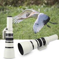 White 500mm f/6.3 Telephoto Fixed Prime Lens +T-Mount for 550D 750D 60D 70D 650D