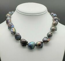 Estate Genuine Tahitian South Sea Baroque Pearl Necklace Huge Pearls Gorgeous !