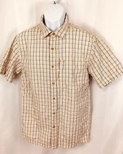 The North Face Shirt Mens Short Sleeve Button Down Camping Fishing Plaid Small S