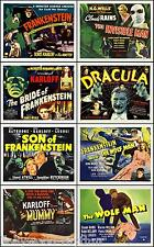 DRACULA FRANKENSTEIN MUMMY And More HORROR Set Of 8 Individual 8x10 TC Prints