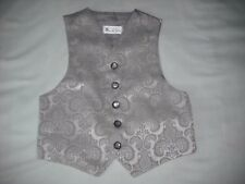 BHS boys formal suit wedding waistcoat silver 2 years vgc