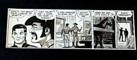 JOHN CELRADO Signed Orignal Hand Inked Buz Sawyer Daily Comic Strip 4/17/85 #AZ