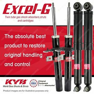Front + Rear KYB EXCEL-G Shock Absorbers for RENAULT Grand Scenic F4R 2.0 I4 FWD