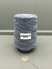 200G MID BLUE MIXTURE 2/20NM 95% WOOL 5% CASHMERE YARN H8352