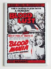 Blood Lust & Blood Mania FRIDGE MAGNET (2 x 3 inches) movie poster