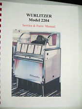 Wurlitzer Model 2204 Jukebox Manual