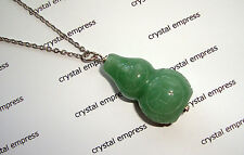 FENG SHUI - JADE WU LOU STAINLESS STEEL NECKLACE