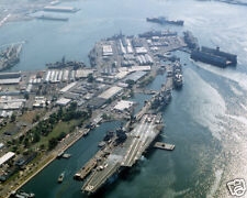 USS ENTERPRISE MOORED AT SUBIC BAY 8X10 PHOTO U.S. NAVY