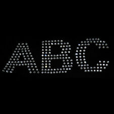 2 inch Rhinestone Letters - Iron on transfer [arial-s]