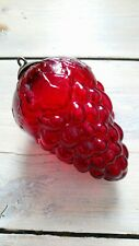 Vintage Heavy Glass Cluster Grapes / Red  ornament
