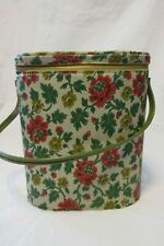 Vintage Collectible Needlepoint Flower Vinyl BRUNCH BAG Lunchbox