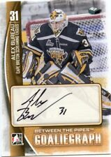 13/14 BETWEEN THE PIPES GOALIEGRAPH AUTOGRAPH AUTO ALEX BUREAU EAGLES *42445