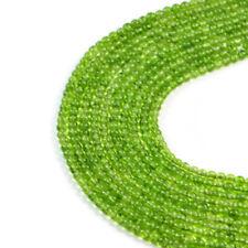 Semi-Precious Natural Green Peridot 4mm Round  Gemstone Jewellery making Bead...