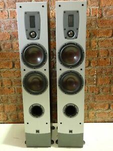 Pair Of Dali Ikon 5 Ribbon Tweeter Compact Sized Floorstanding Loudspeakers