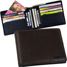NAVA Kreditkarten Geldschein Etui Geldbeutel ohne Münzfach Lederfarbe Braun Blau