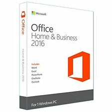 Microsoft Office Home and Business 2016 (1 PC) Key Card T5D-02776 NEW RETAIL BOX