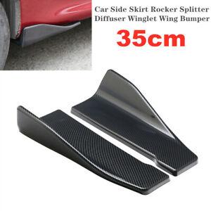35cm Universal Car SUV Bumper Spoiler Rear Lip Canard Diffuser Wrap Angle Shovel