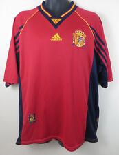 Adidas España Camiseta De Fútbol 1998-99 Home #6 Fútbol Jersey España camisa para hombre XL