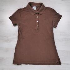 Ladies LACOSTE Brown Vintage Designer Polo Shirt T-Shirt Size 36 / UK 8 #D4756