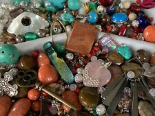 Jewelry Beads Charms Findings Upcycled Harvested For Craft 1 Pound 10 Oz.